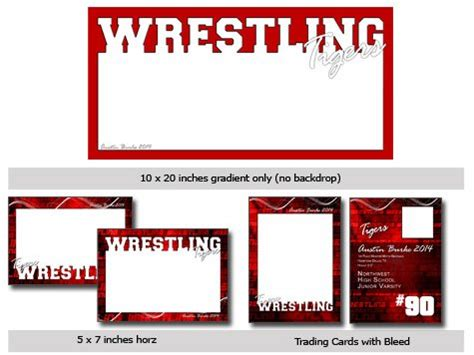 Action Sports Wrestling CUTOUT Vol 20 Template Photoshop