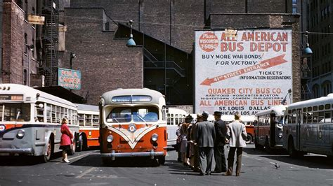 Historical photos of NYC's subway cars, trolleys and buses