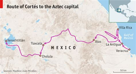 On the trail of Hernán Cortés - The conquest of Mexico