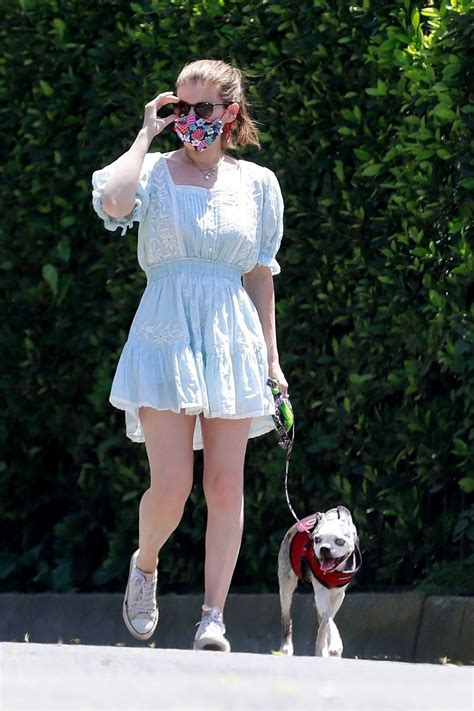 KATE MARA Out with Her Dog in Los Feliz 04/27/2020