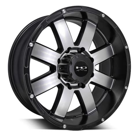 """HD Off-Road """"8-Point"""" Series Wheels in Black Machined 20x9"""