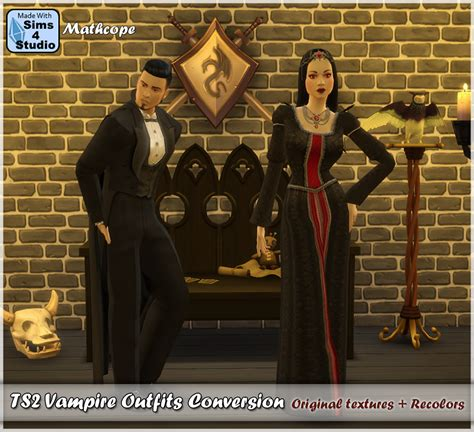 Sims 4 CC's - The Best: TS2 Vampire Outfits Conversion by