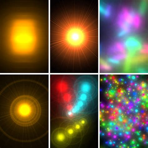 Quick and Extremely Easy Glowing Lights Photoshop Brushes
