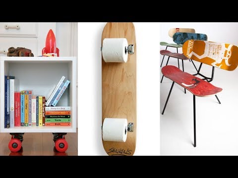Cool Furniture Ideas With Skateboard Style From Skate-Home