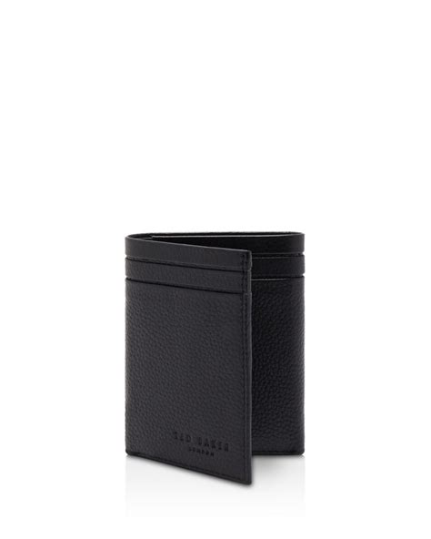Ted Baker Hallam Leather Trifold Wallet in Black for Men