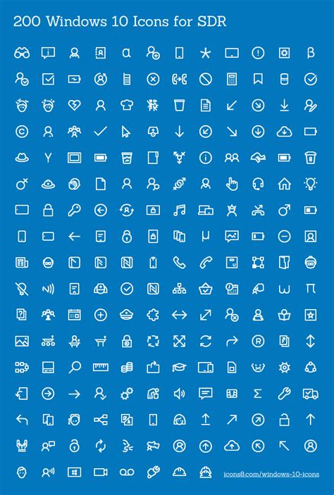 200 Free Icons for Windows 10 Apps - Super Dev Resources