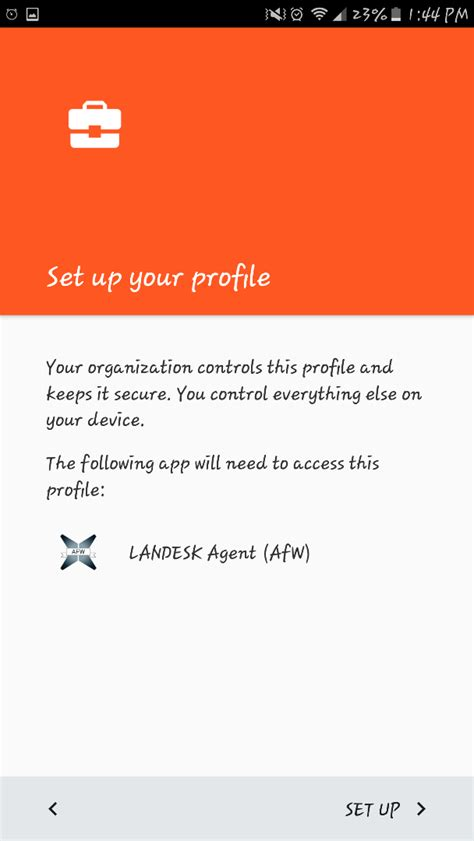Android for work (AFW) Setup and Configuration