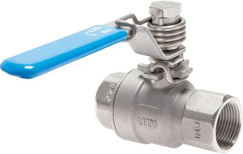Stainless steel-ball valves with spring return, up to 63