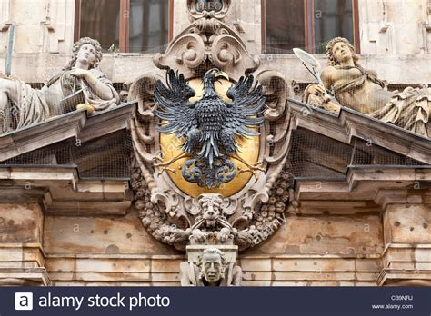Old Town Hall Coat Arms Stockfotos & Old Town Hall Coat