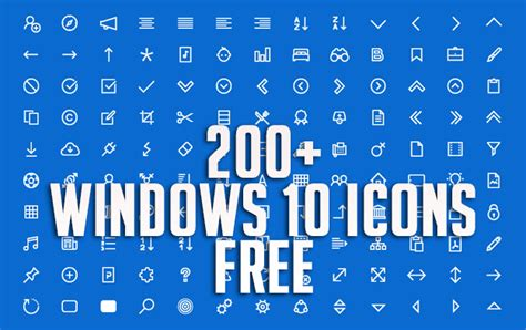 200+ Windows 10 Icons Free Download   Graphic Design Resources