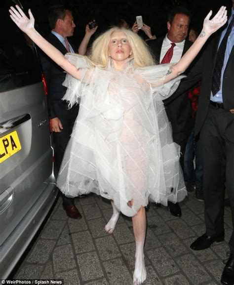 Mad Messiah: Lady Gaga arrived at her London Hotel wearing