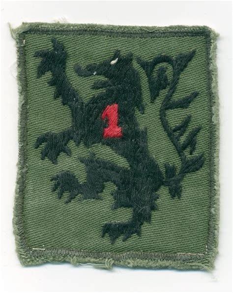 Pocket Patches Of The 1st Infantry Division In Vietnam
