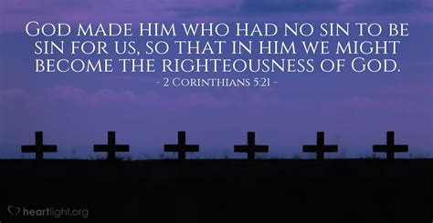 2 Corinthians 5:21 — Verse of the Day for 11/20/2015
