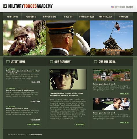 13+ Best Military Website Templates & Themes   Free