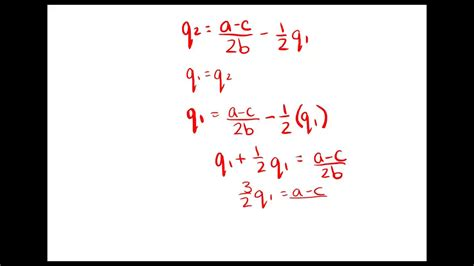 Cournot Oligopoly Derive and Solve for Nash Equilibrium