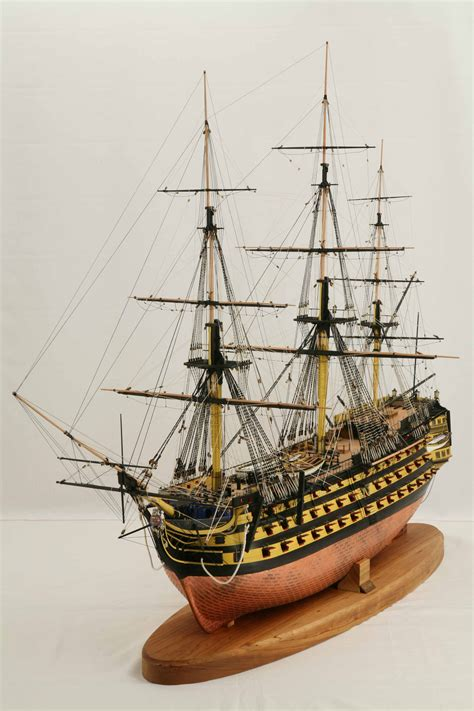 Ship model 1 : 72 scale of Victory, Nelson's flagship