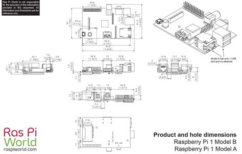 All Raspberry Pi Products Dimension Drawings - Ras Pi World