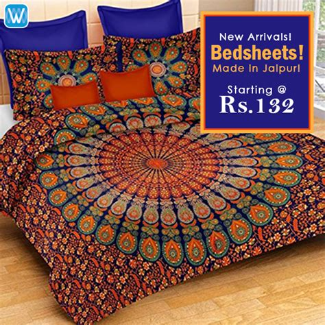 Buy Rajasthani Bed Sheets in Bulk at B2B Wholesale prices
