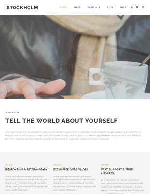 Stockholm - A Genuinely Multi-Concept Theme | WordPress
