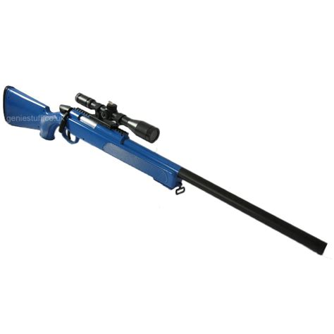 Swiss Arms M6 Black Eagle Airsoft Sniper Rifle Blue