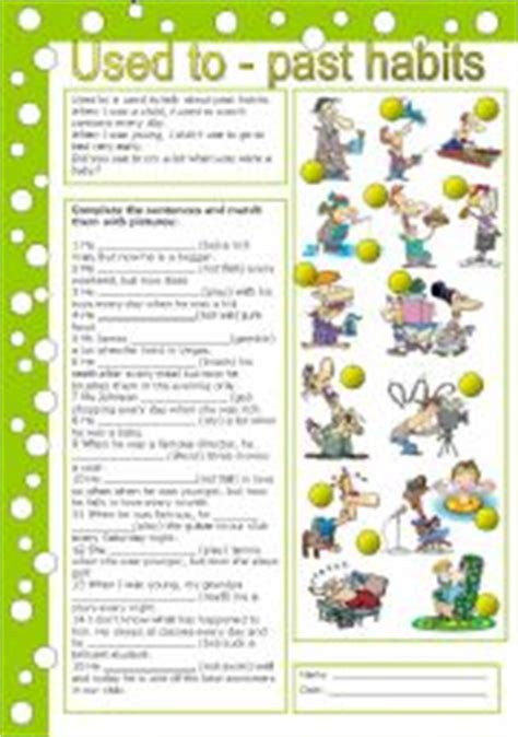 English Exercises: used to, get used to, be used to (2)