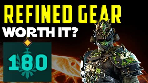 Orochi FULLY REFINED GEAR (max level 180) - For Honor